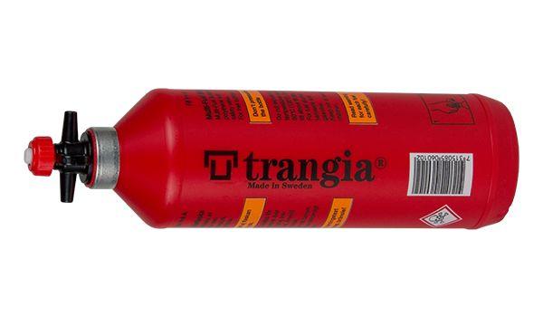 Trangia Brenselflaske 1,0 liter blir levert med sikkerhetskork med integrert helletut. Flasken kan brukes med som en ekstra brenselflaske eller sammen med pumpen for Trangia multifuelbrennere.  Leveres med sikkerhetskork Helletut Dimensjoner: Ø80x2...