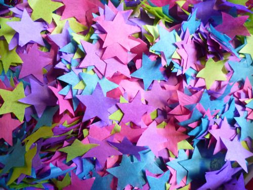 Custom star confetti - made with bio-degradable tissue  Luxury handmade paper decor by Paper Street Dolls  Check out our store - paperstreetdolls.etsy.com