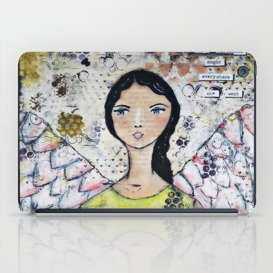 Buy Original Mixed Media Angel of Magic iPad Case by Croppin'Spree. Worldwide shipping available at Society6.com. Just one of millions of high quality products available.
