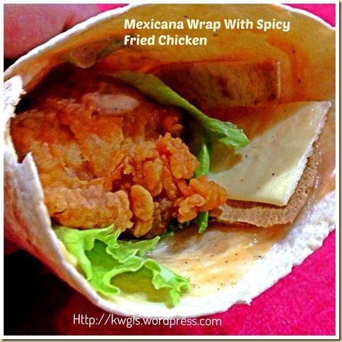 Another Copycat? – Mexicana Wrap With Fried Chicken   GUAI SHU SHU