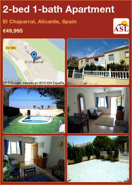 2-bed 1-bath Apartment in El Chaparral, Alicante, Spain ►€49,995 #BargainPropertyInSpain