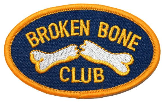 Bone Club Broken Bone Club Fractured Arm or Leg by YourPatchStore