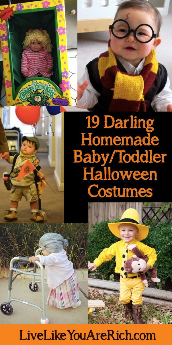 19 super darling and inexpensive homemade baby/toddler Halloween costumes—Bonus: most of them are fairly quick to put together too! #LiveLikeYouAreRich