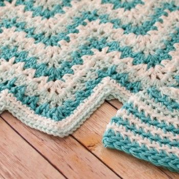 Lacy Round Ripple Blanket - Afghans Baby Crocheted My