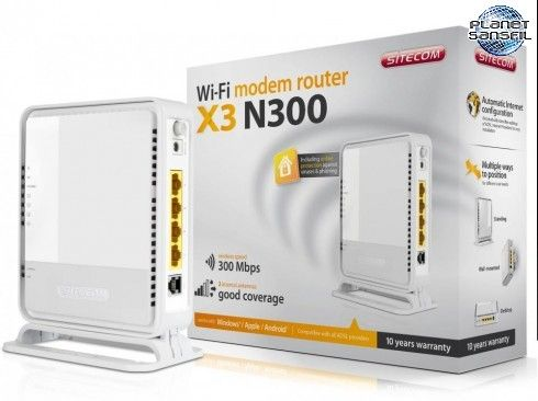 Un modem routeur Wi-Fi chez Sitecom.