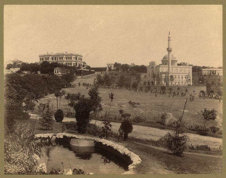 Yıldız Sarayı ve Camii Abdullah Fréres fotoğrafı 1880-1900 LOC Arşivi