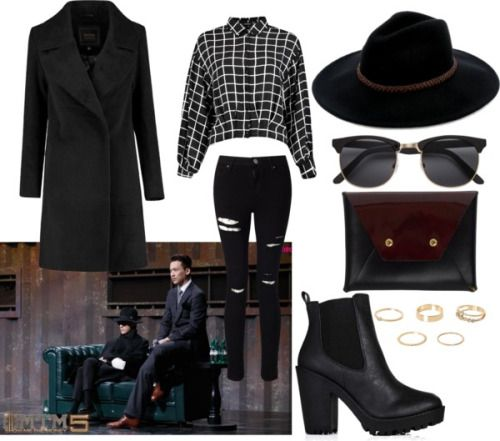 ZionT. in SMTM5 together with Kush (Team YG) by catezovi featuring a patent bag Shirt top, €2,39 / Oversized collar coat / Miss Selfridge skinny fit jeans, €48 / Short black boots, €42 / BET Barcelona patent bag, €37 / River Island gem jewelry, €9,59...