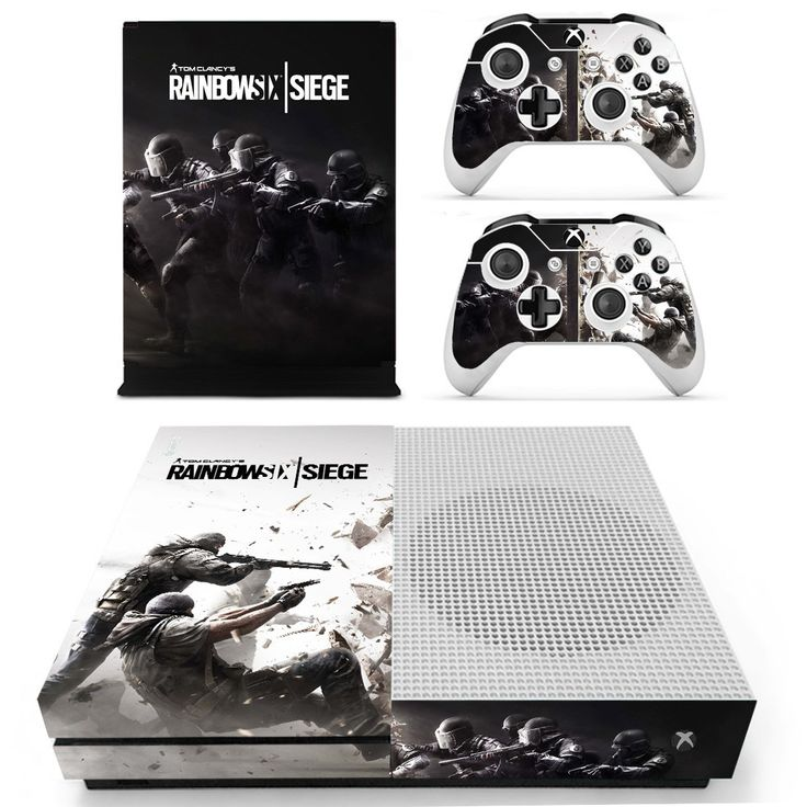 Rainbow six siege design skin decal for xbox one S console and 2 controllers