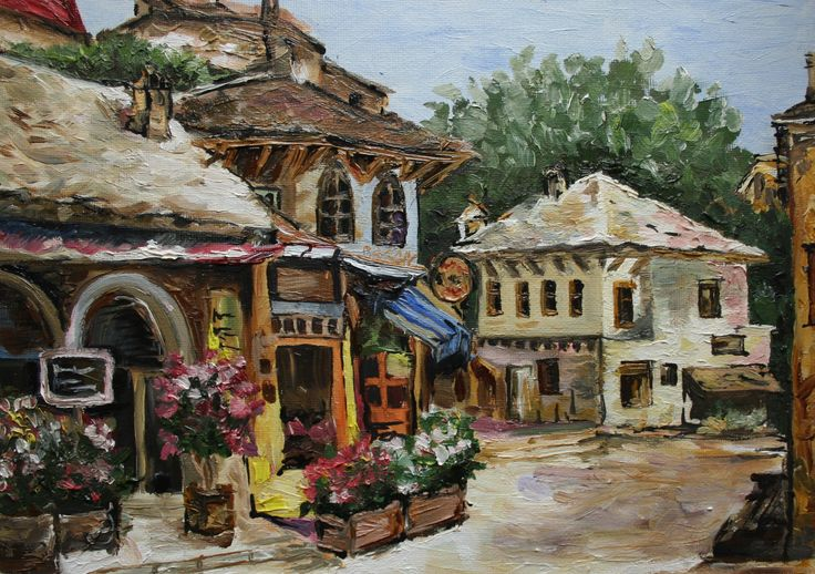 oil painting Italy