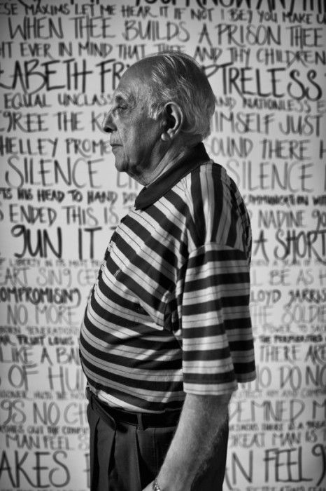 Ahmen Kathrada in21 Icons: Portrait of a Nation, at Museum of African Design, June 16 – Aug 17, 2014 #art #photography #portraits #southafrica