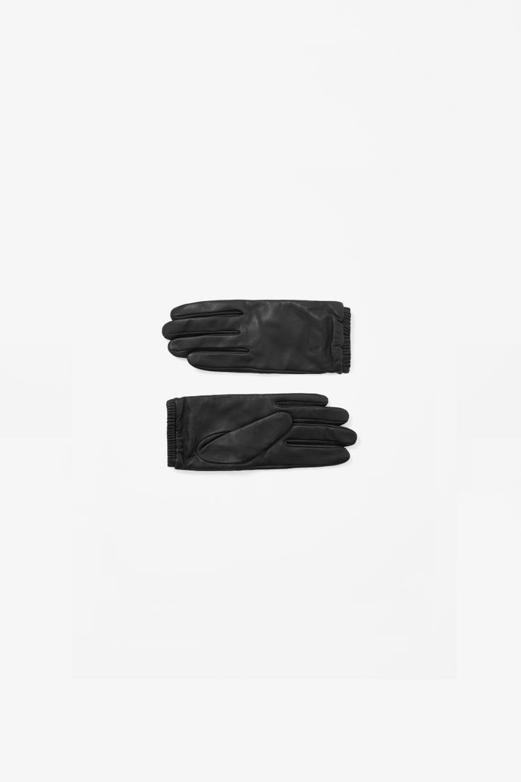 Elastic cuff leather gloves