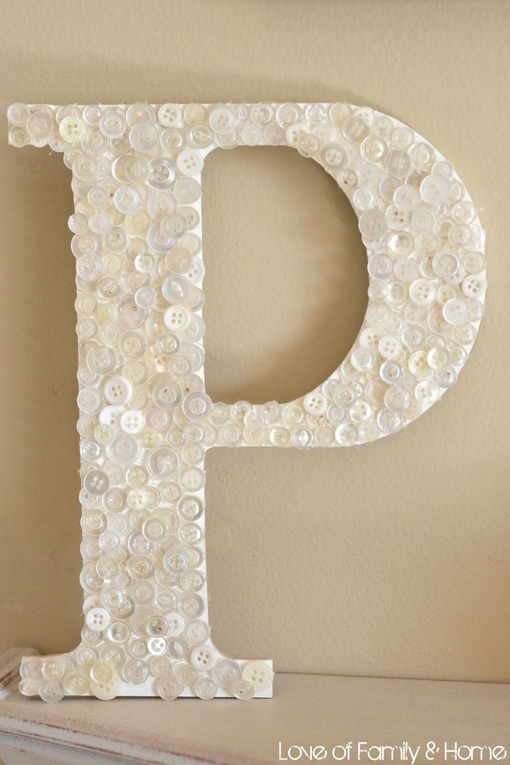 Wooden letters for crafts - Letter