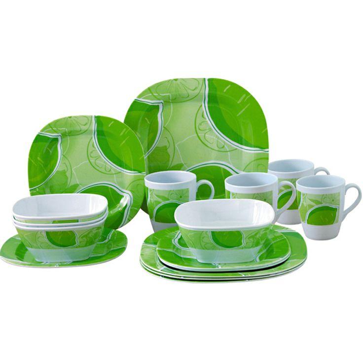 Melamine Dinnerware Sets | 16PCS Melamine Dinner Set  sc 1 st  Pinterest & 245 best Melamaine/Melmac II images on Pinterest | Dishes Dinner ...