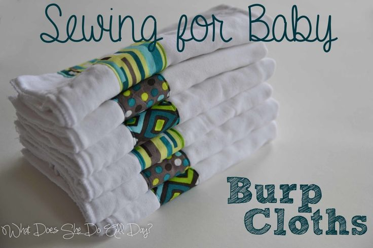 Sewing for Baby: Burp Cloths #sewing #baby