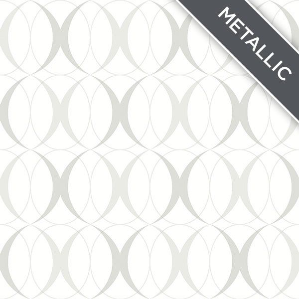 Silver Geometric Peel And Stick Wallpaper