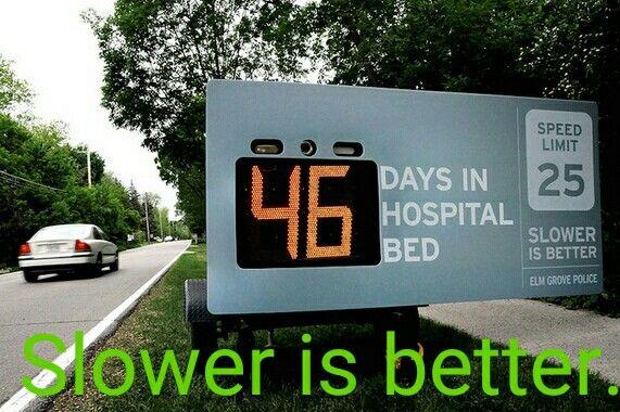 Slower is better.