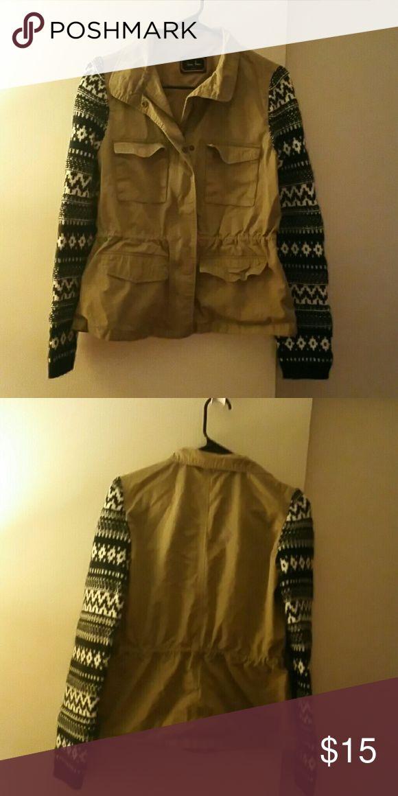 Women's Utility Jacket Women's khakis, knit sleeve, zip front utility jacket. Smoke free home, no rips and no stains. Love Tree Jackets & Coats Utility Jackets