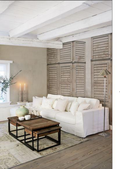BN WALLCOVERING - RIVIÈRA MAISON Fotobehang (louvre deuren) verkrijgbaar bij Deco Home Bos in Boxmeer