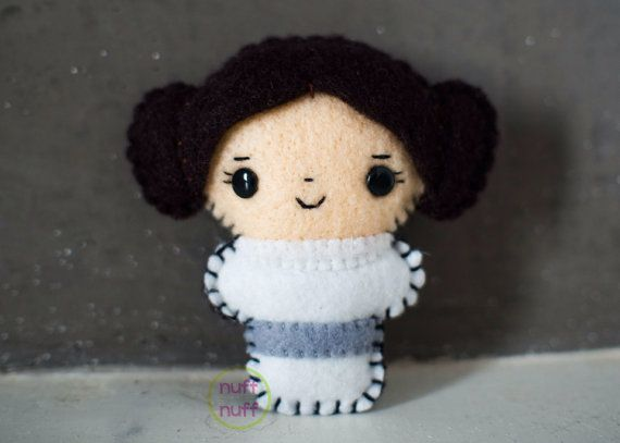 Felt Princess Leia  Pocket Plush toy by nuffnufftoys on Etsy, $15.00