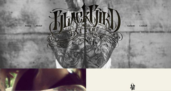 Bootstrap Tattoo Template by dougborton on @Graphicsauthor