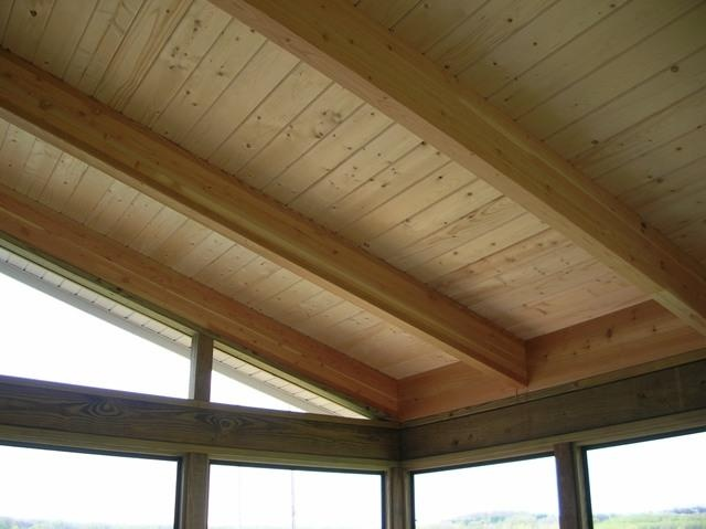 Is this what he means by smooth with beams?  I like this because we can stain it or paint it.  Smooth is better than rough that we have now.