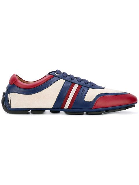 Shop Bally colour block sneakers.