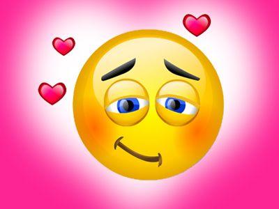 Smiley amoureux