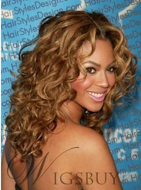 18 Inches Hand Tied 100% Human Real Hair Beyonce's Hairstyle: M.Wigsbuy.com