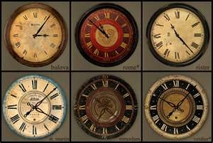 Selection of antique clockfaces for dollhouse miniface