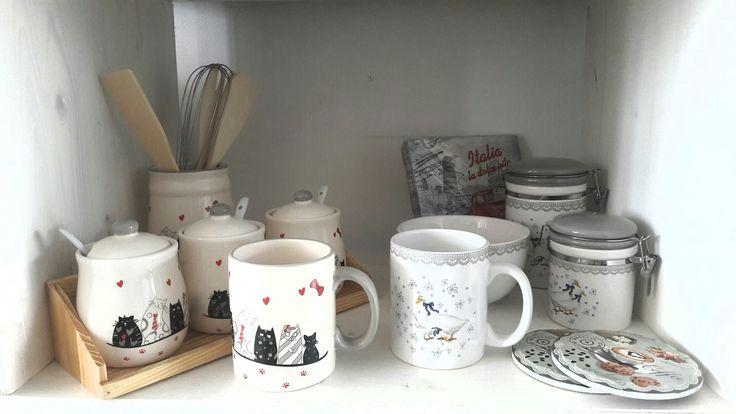 Set căni cu pisicuţe şi răţuşte de ceai-cafea. Tea set. Coffee set. Kitchen. Ducklings. Kitty-cats. Cups. Tea time. DecoDepot. Braşov.