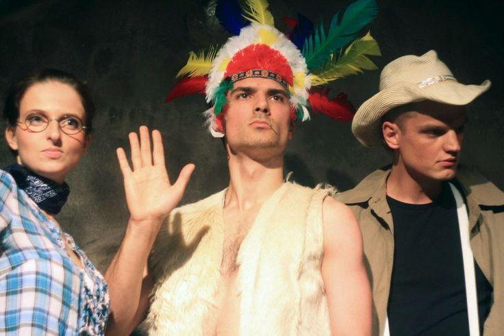"""Ze spektaklu """"Western"""", Teatr Improwizowany Improkracja"""