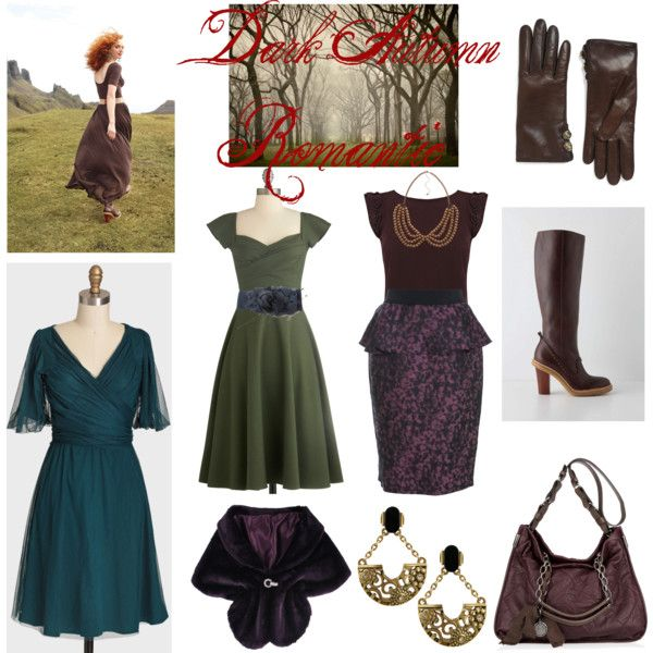 """Dark Autumn Romantic"" by thewildpapillon on Polyvore"