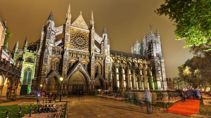 Westminster Abbey Church in London, England.