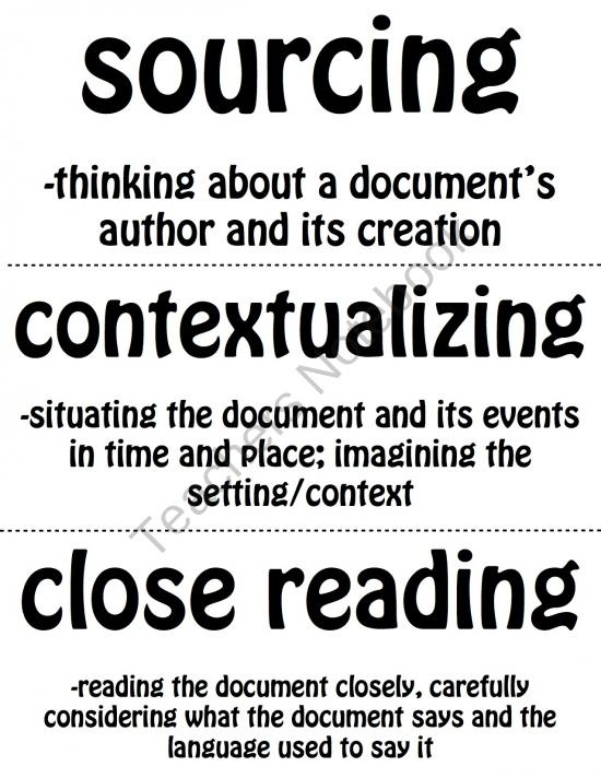7 best images about Thinking like a Historian on Pinterest ...