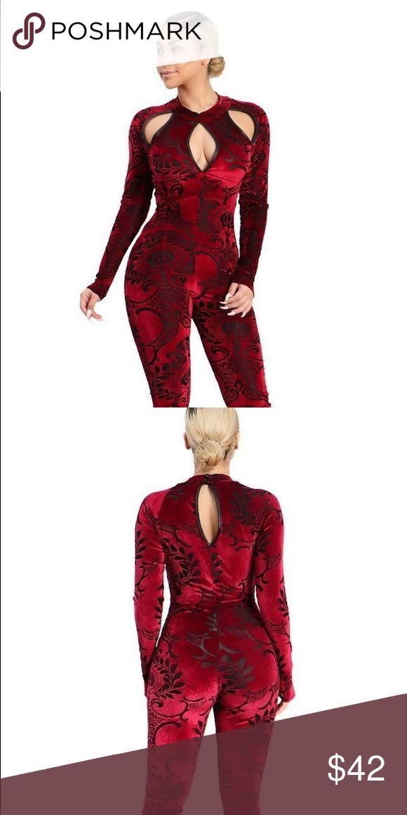 Get To It Jumpsuit Velvet Jumpsuit only 1 LARGE left!! Other