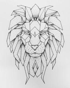 17 Best Ideas About Geometric Lion On Pinterest
