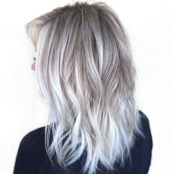 Silver ombre , gray hair ombre #hairstyle #haircolor #grey #greyhair #bleachandtone #blonde #platinumhair #hair #haircolor