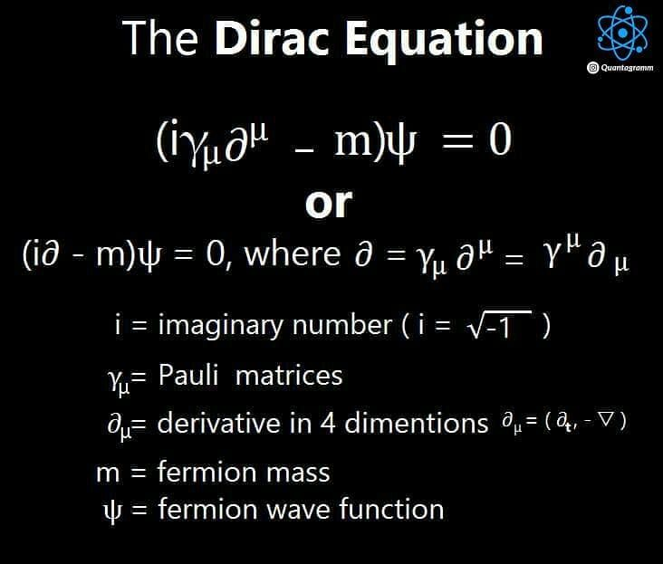 "quanta_gramm) on Instagram: ""⚛ The Dirac equation is an equation"