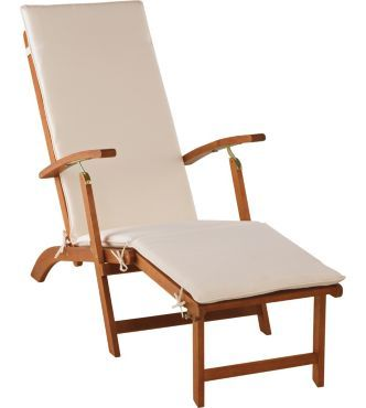 Steamer Multi Position Folding Sun Lounger With Cushion. In Garden U0026 Patio,  Garden U0026 Patio Furniture, Loungers U0026 Recliners Part 34