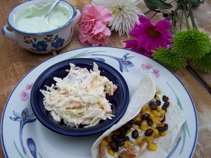 Tex-Mex Fish Tacos and Creamy Taco Sauce by @Cooking4MyKids | Cooking for My Kids #fish #tacos