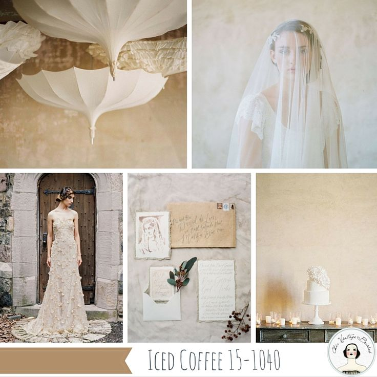 Iced coffee, one of the Top 10 Spring Wedding Colours for 2016 from Pantone