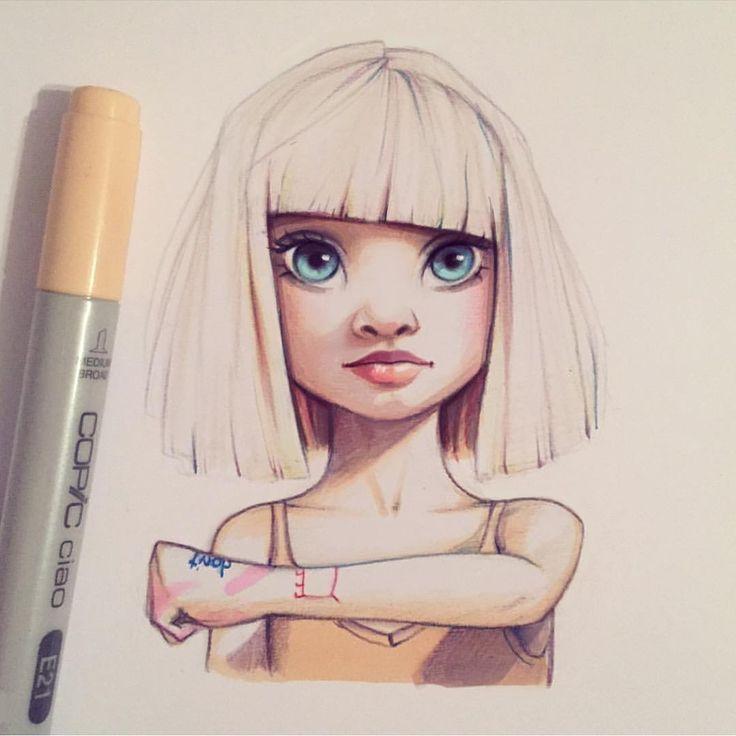 Смотрите это фото от @arts_help на Instagram • Отметки «Нравится»: 30 тыс. Sia girl portrait character illustration drawing портрет персонаж рисунок иллюстрация