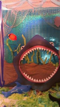 Under the sea photo area- what if we just set one up on the wall to cafeteria and people could do selfies???