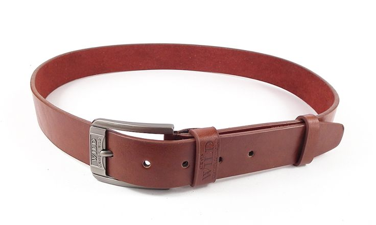 'Always wild' - brown leather belt for professional men
