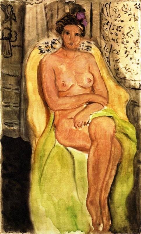 Desnudo en una butaca , Piernas cruzadas