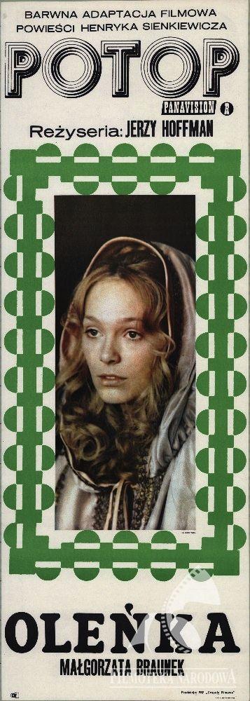 Małgorzata Braunek - POTOP dir. Jerzy Hoffman (1974). Polish poster: Renata Pajchel