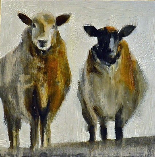 "Friends by Elsa Sroka Oil ~ 8"" x 8"""