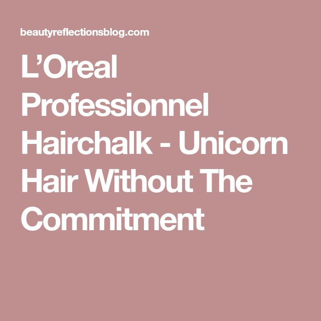 L'Oreal Professionnel Hairchalk - Unicorn Hair Without The Commitment