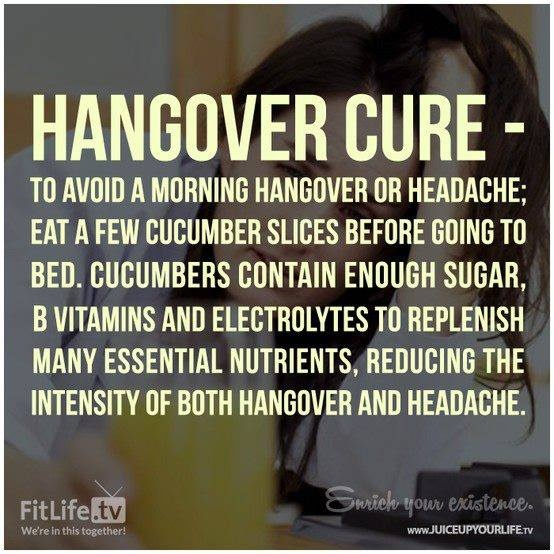 Hangover Cure - pretty sure this worked for me!