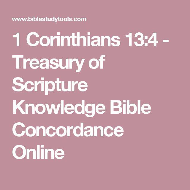 1 Corinthians 13:4 - Treasury of Scripture Knowledge Bible Concordance Online